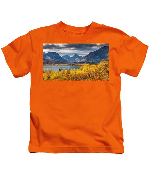 Fall Colors In Glacier National Park Kids T-Shirt