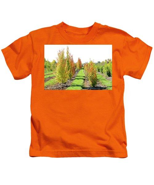 Fall On The Tree Farm Kids T-Shirt