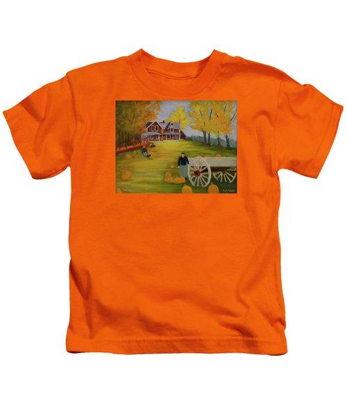 Fall Pumpkin Harvest Kids T-Shirt