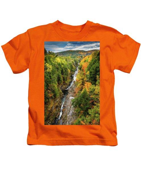 Fall Quechee Gorge, Vt Kids T-Shirt