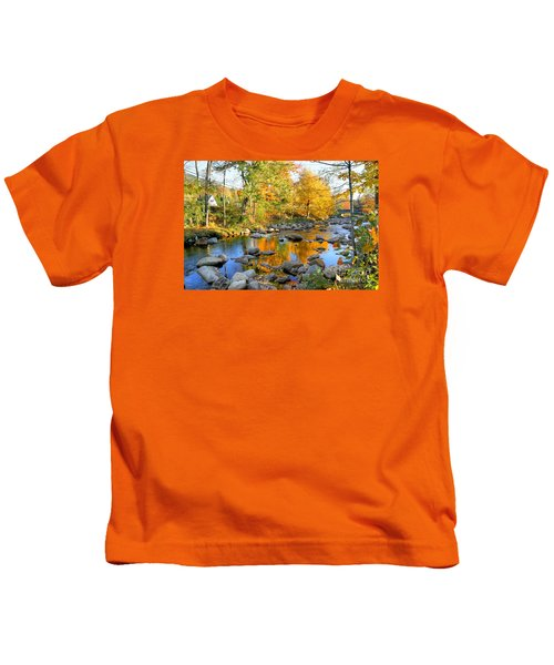 Fall Reflections In Jackson Kids T-Shirt