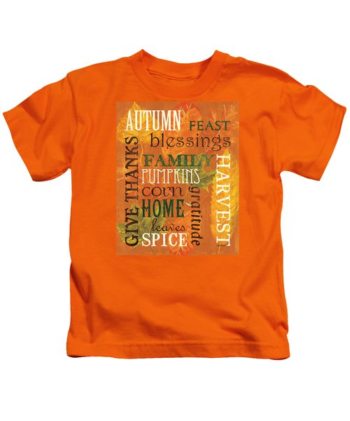 Fall Typography 1 Kids T-Shirt