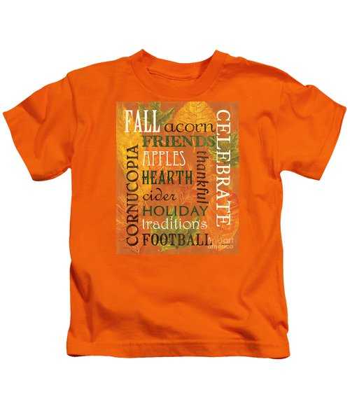 Fall Typography 2 Kids T-Shirt