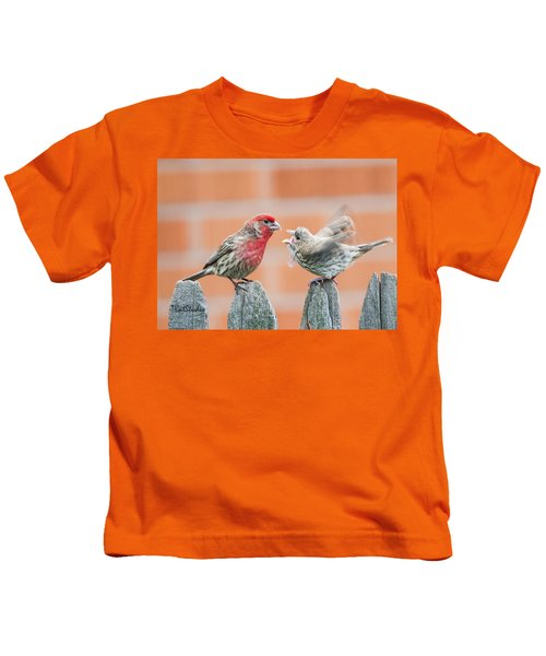 Feuding Finches Kids T-Shirt