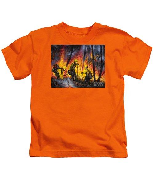 Fire Line 2 Kids T-Shirt
