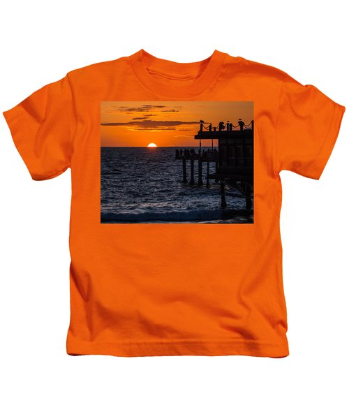 Fishing At Twilight Kids T-Shirt