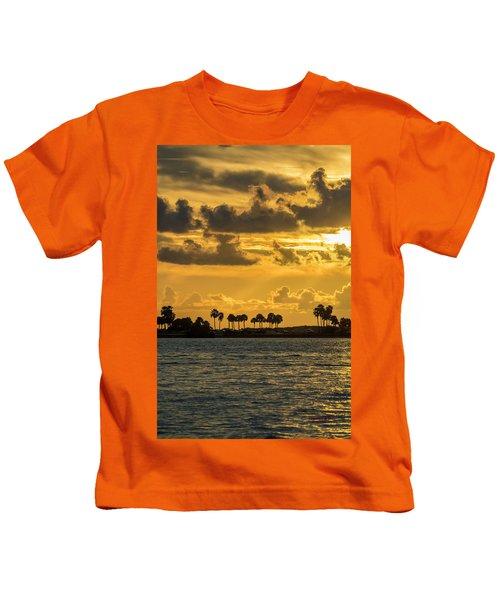 Florida Sunset-1 Kids T-Shirt