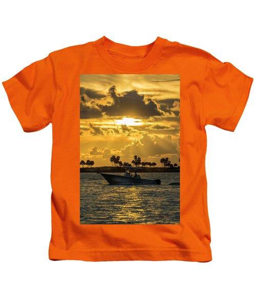 Florida Sunset-2 Kids T-Shirt