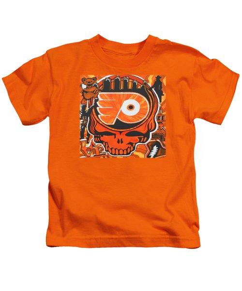 Flyer Love Kids T-Shirt by Kevin J Cooper Artwork