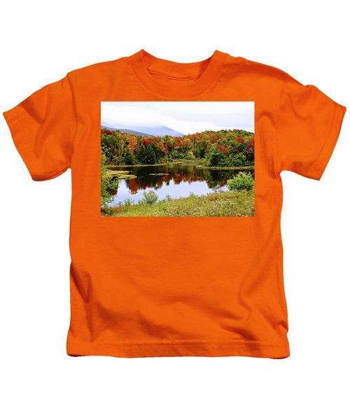 Foggy Day In Vermont Kids T-Shirt