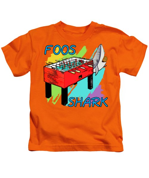 Foos Shark Kids T-Shirt by David G Paul