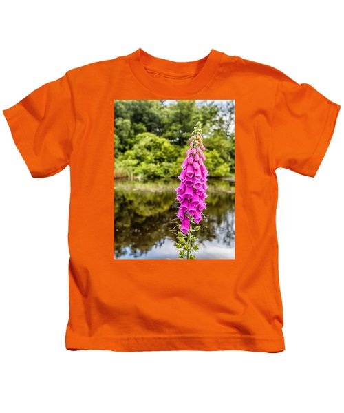 Foxglove In Flower Kids T-Shirt