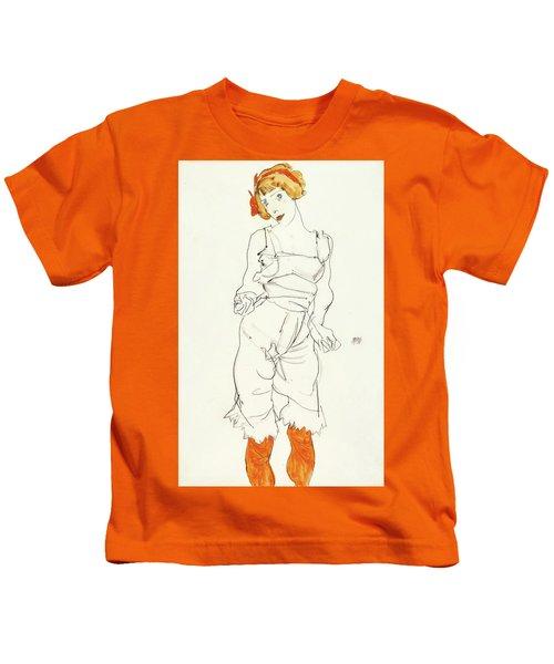 Frau In Unterwasche Kids T-Shirt