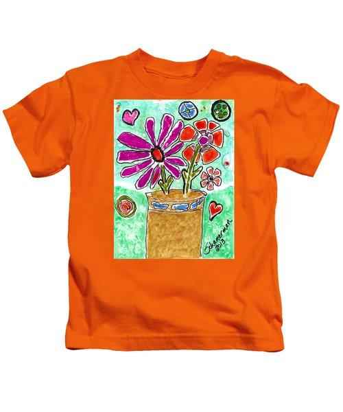 Funky Flowers Kids T-Shirt