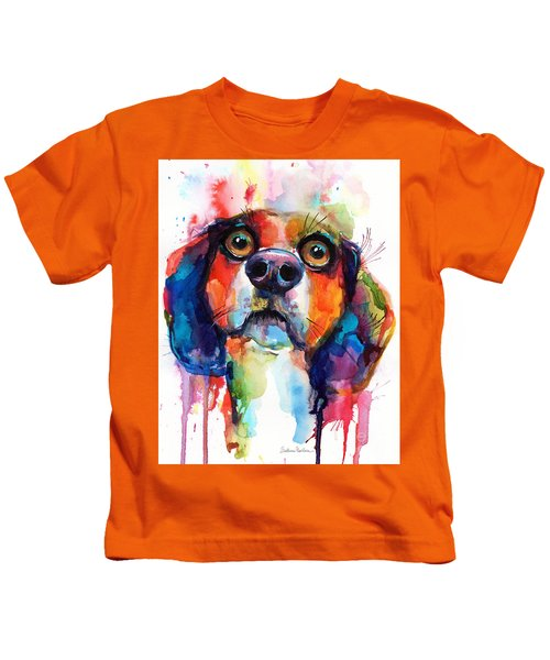Funny Beagle Dog Art Kids T-Shirt
