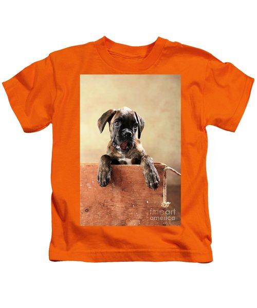 German Boxer Dog Puppy Kids T-Shirt