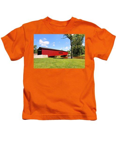 Gilpin's Falls Covered Bridge Kids T-Shirt
