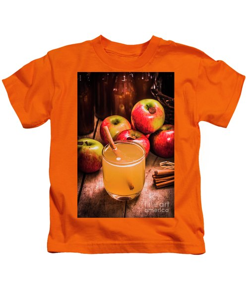 Glass Of Fresh Apple Cider Kids T-Shirt