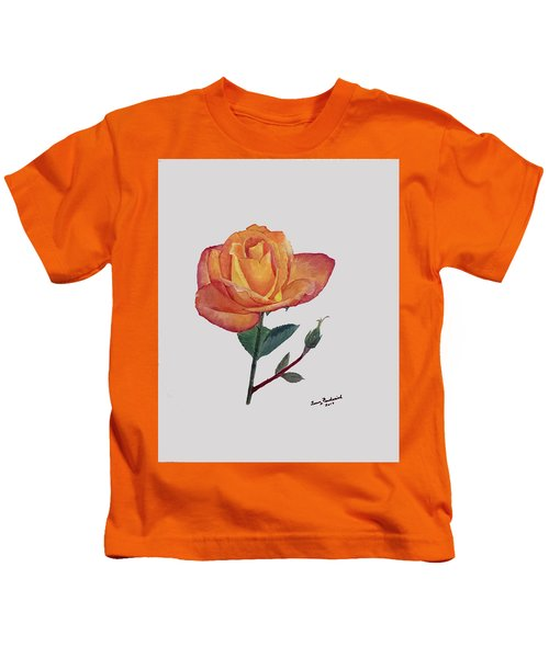 Gold Medal Rose Kids T-Shirt