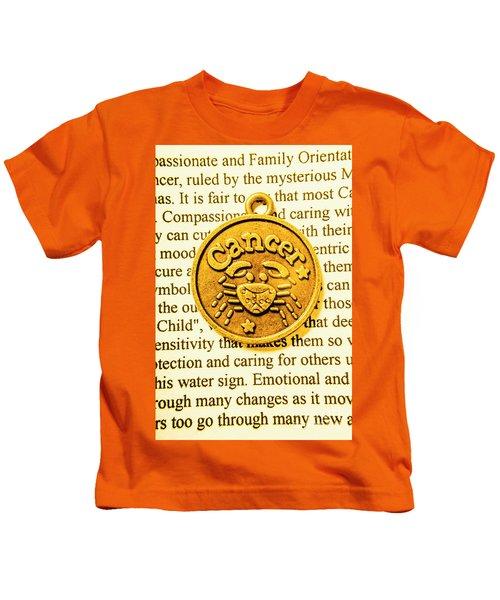 Golden Crab Cancer Kids T-Shirt
