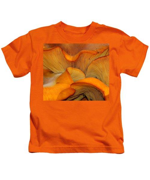 Golden Mushroom Abstract Kids T-Shirt