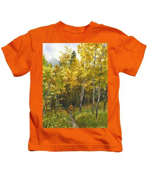 Golden Solitude Kids T-Shirt