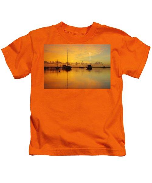 Golden Sunrise At Boreen Point Kids T-Shirt