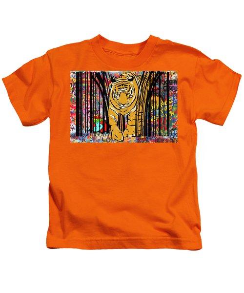 Graffiti Tiger Kids T-Shirt