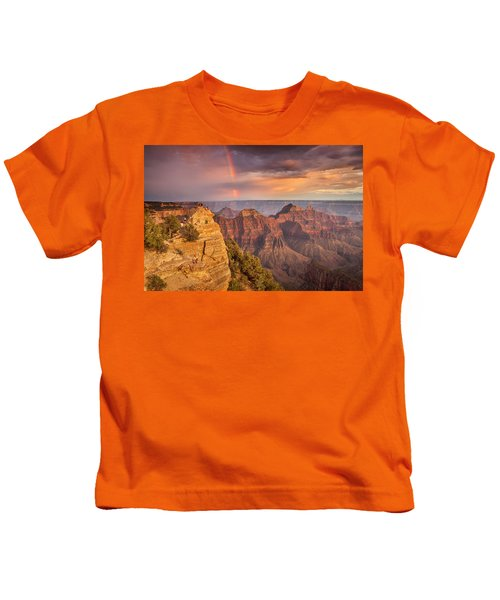 Grand Canyon North Rim Rainbow Kids T-Shirt
