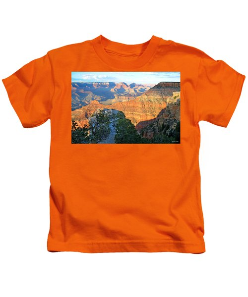 Grand Canyon South Rim At Sunset Kids T-Shirt
