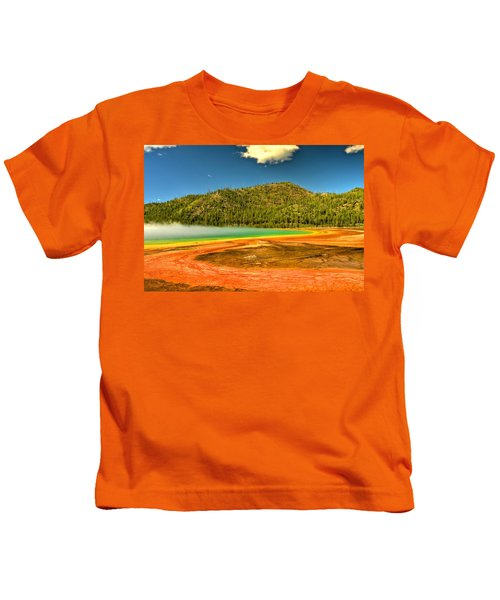 Grand Prismatic Spring Kids T-Shirt