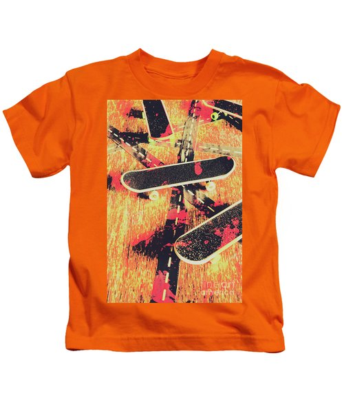 Grunge Skate Art Kids T-Shirt