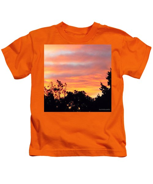 #halloween #morning #sky Is On #fire Kids T-Shirt