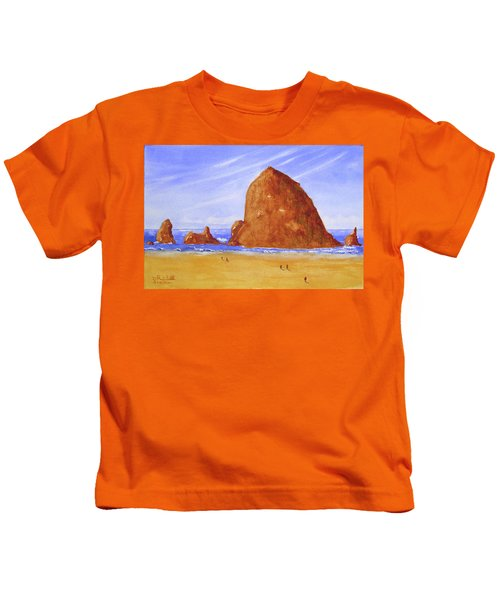 Hay Stack Rock Kids T-Shirt