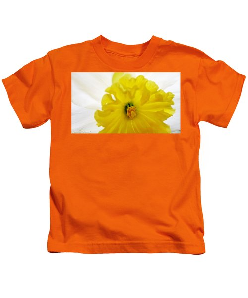 Heart Of A Daffodil  Kids T-Shirt
