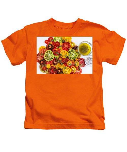 Heirloom Tomato Slices Kids T-Shirt