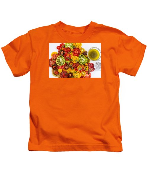 Heirloom Tomato Slices Kids T-Shirt