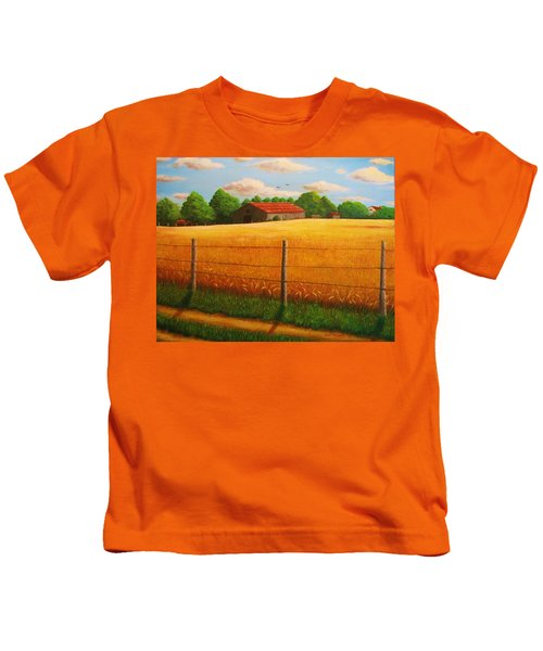 Home On The Farm Kids T-Shirt