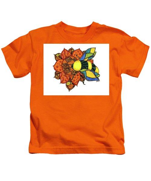 Honeybee On A Flower Kids T-Shirt