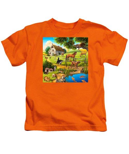 House Animals Kids T-Shirt