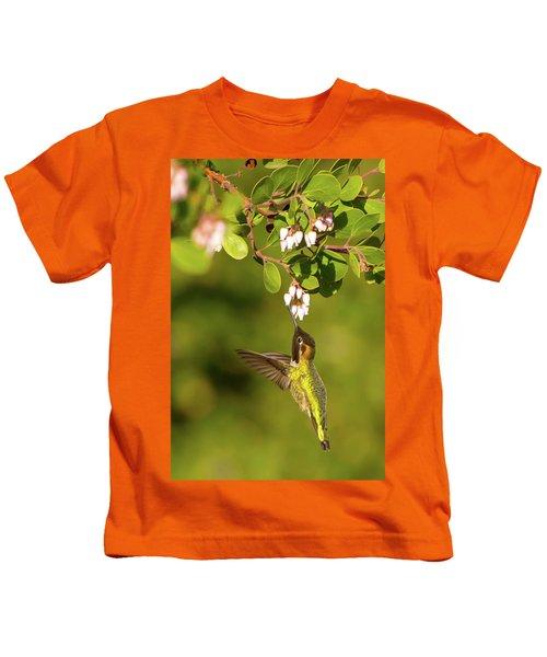 Hummingbird And Manzanita Blossom Kids T-Shirt