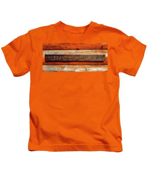Husband's Waiting Bench - Denali National Park Kids T-Shirt