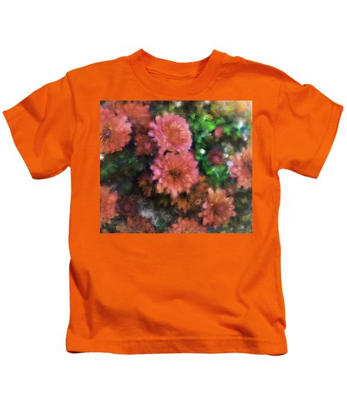 Bronze And Pink Mums Kids T-Shirt