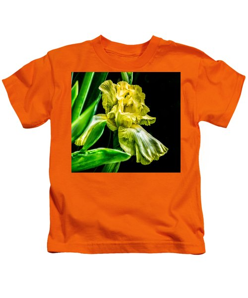 Iris In Bloom Kids T-Shirt
