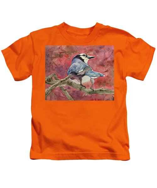 Jay In The Japanese Maple Kids T-Shirt