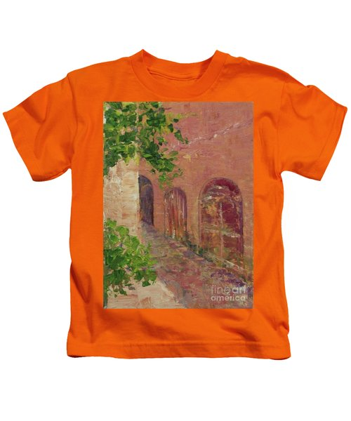 Jerusalem Alleyway Kids T-Shirt