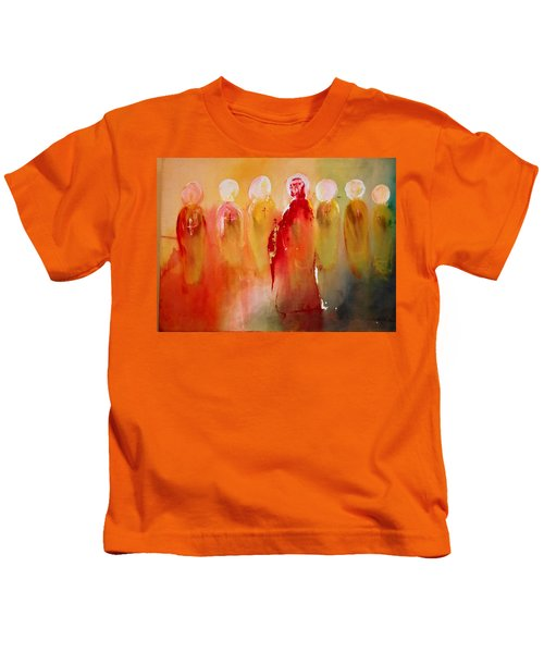Jesus With His Apostles Kids T-Shirt