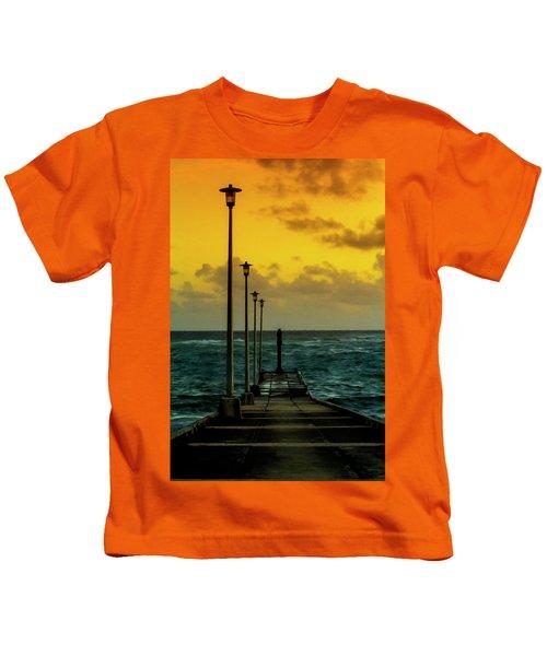 Jetty At Sunrise Kids T-Shirt