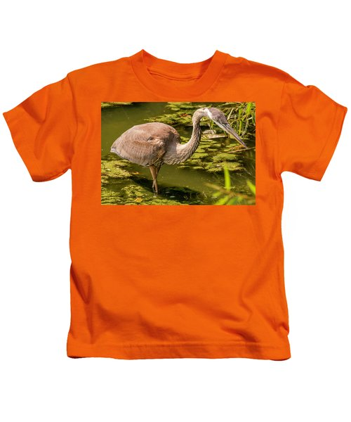 Juvenile Great Blue Heron Kids T-Shirt