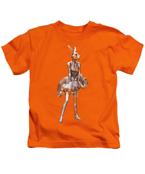 Kangaroo Marilyn Kids T-Shirt by Susan Vineyard